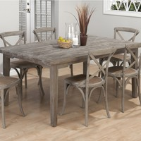 """Driftwood Grey Coastal Collection 72"""" Rectangle Dining Table"""
