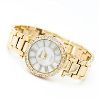 Bezel metal watch (3 colors)