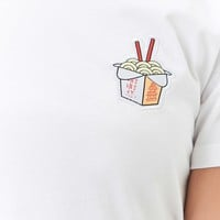 Noodle Embroidered Tee