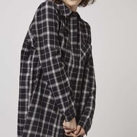 Monochrome Check Nightshirt - Topshop