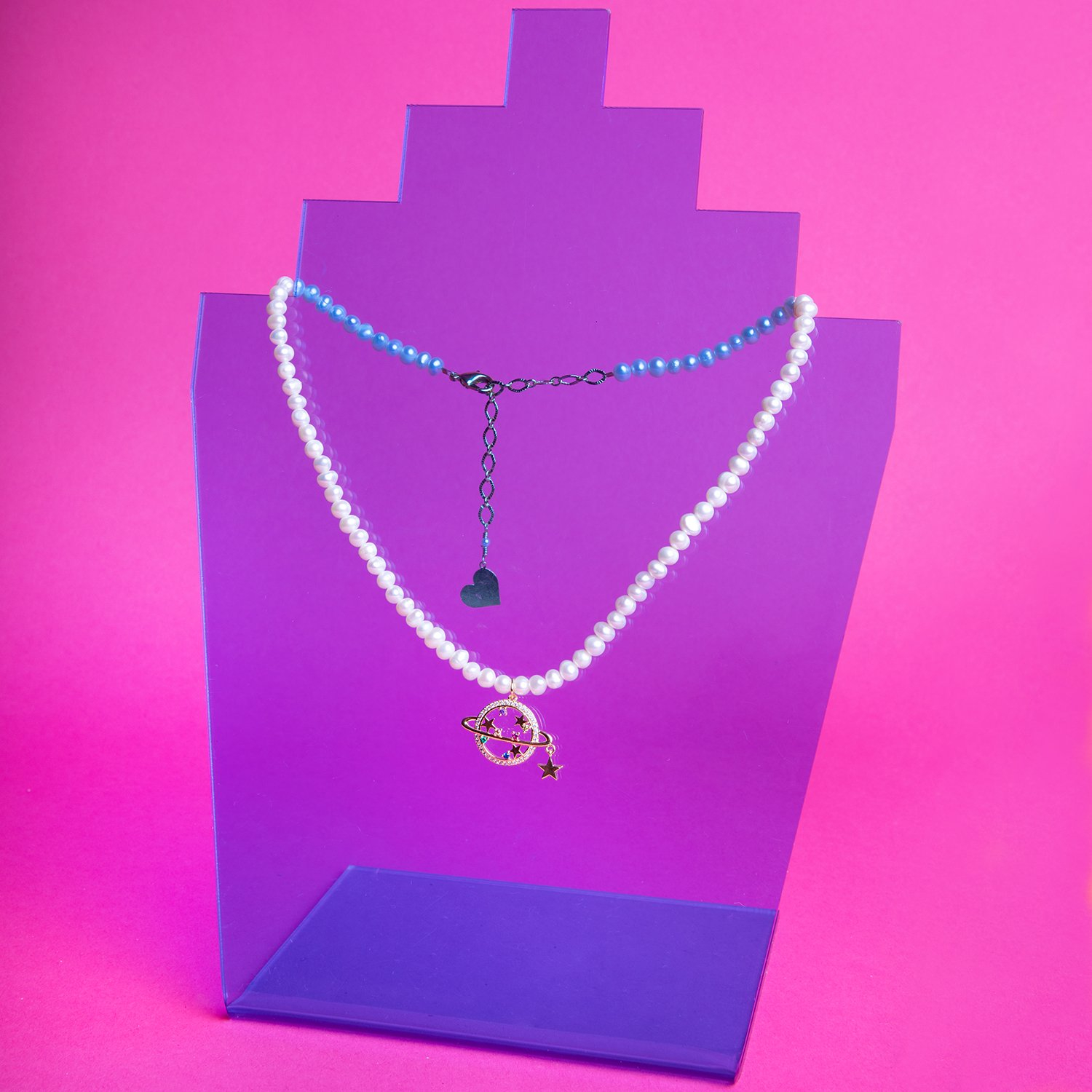Image of Pearl Return to Saturn Necklace