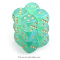 Borealis Light Green 126 Dice Set | Awesome Dice