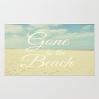 Gone To The Beach Wall Tapestry by ALLY COXON
