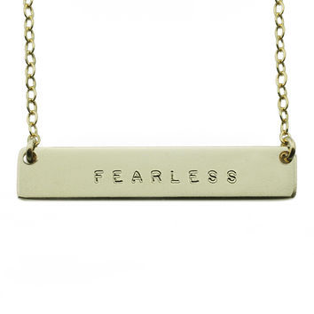 The Name Plate Necklace Fearless