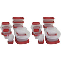 Walmart: Rubbermaid Case of 2 Easy-Find 24-Piece Plus 4 Food Storage Sets