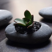 beach stone flower planter  simple design  hand by Mihulli on Etsy