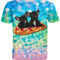 French Bulldog Pizza T-Shirt