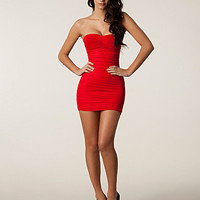 Ruched Detail Cage Dress, Club L