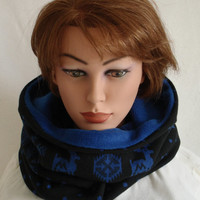 Snood, Tube, Loop, Woman, Man, Teens, Plaid, Cowl, infinity scarf, ugly christmas sewn fabric scarf