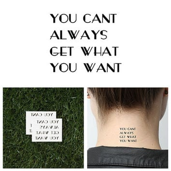 Try Sometimes - Temporary Tattoo (Set of 2)