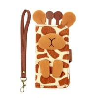 I Am A Giraffe Handmade Multifunction Leather Cover For iPhone 4/4s