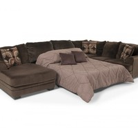 Charisma 3 Piece Right Arm Facing Sleeper Sectional | Sectionals | Living Room | Bob's Discount Furniture
