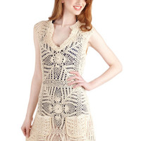 ModCloth Travel Sleeveless Cover-up La Mer the Merrier Cover-Up Dress