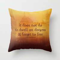 HARRY POTTER  Throw Pillow by Brittney Weidemann