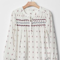 Gap Girls Embroidered Smock Top