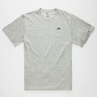 Nike Sb Knit Overlay Mens T-Shirt Dark Grey  In Sizes