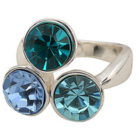 Multi Color Triad Stone Ring