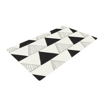 """Laurie Baars """"Textured Triangles"""" Geometric Abstract Woven Area Rug"""
