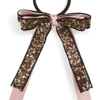 Cara Sequin Bow Ponytail Holder | Nordstrom