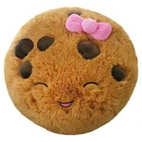 16 Inch Cookie Smiley Face Pillow | Girls Small Plush Stuffed Animals | Shop Justice