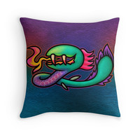 'Earthbound Kraken' Throw Pillow by likelikes