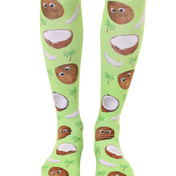 Googly Coconuts Knee High Socks