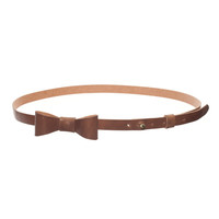Zuzii Bow Leather Belt - Honey