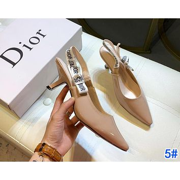 Dior Fashion Women Pointed High Heels Shoes Sandals 5#