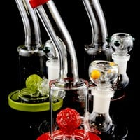 Small Stemless GoG Water Pipe with Glob Perc - WP1348