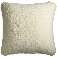 Oversized Long Fuzzy Pillow - Ivory