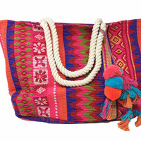 ATX Mafia BoraBora Pink & Orange Multi Color Tote
