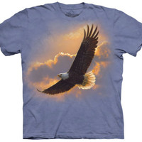 The Mountain SOARING SPIRIT Eagle Flying Native American T-Shirt S-5XL NEW
