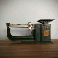 Triner Air mail accuracy scale, vintage postal scale, metal scales, made in the USA, office decor, rustic scale