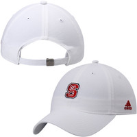 NC State Wolfpack adidas Womens Slouch Adjustable Hat – White