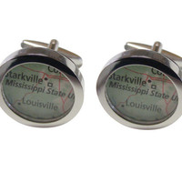 Mississippi State University Map Cufflinks