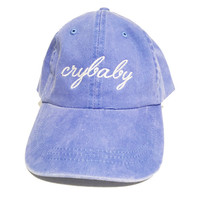 crybaby cry baby hat twill cap hat baseball style blue hat