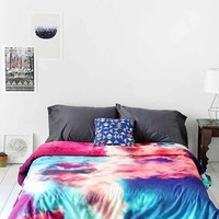 Caleb Troy For DENY Yin-Yang Painted Cloud Duvet Cover- Purple