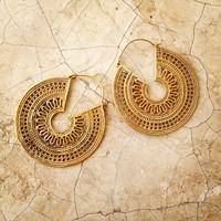 Brass Earrings, Boho Earrings, Tribal Earrings, Hoop Earrings, Gold Earrings, Gipsy Earrings, Tribal Belly Dance Jewellery.