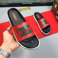 DCCK Gucci Casual Fashion men and women Sandal Slipper Shoes
