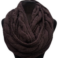 Keeping It Warm SALE: Warm and Cozy Big and Thick Brown Infinity Scarf