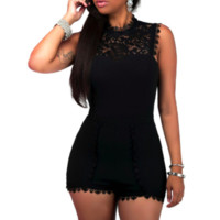 FARRAH'S FITTED LACE ROMPER