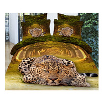 3D Queen King Size Bed Quilt/Duvet Sheet Cover Cotton reactive printing 4pcs 1.8M bed 23