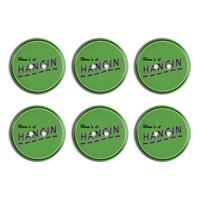 How's It Hangin' Casual Hello Greeting Plastic Resin Button Set of 6