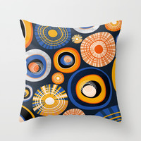 Circles In The Sky Throw Pillow by Susana Paz
