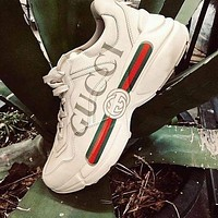 Gucci GG hot selling classic old shoes, thick-soled increased shoes, sports fashion men's and women's casual shoes