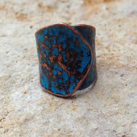 Copper Painterly Ring