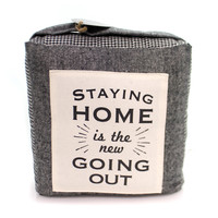 Home STAYING HOME DOOR STOPPER Fabric Design Home 1004330011