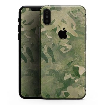 Military Jungle Camouflage V3 - iPhone XS MAX, XS/X, 8/8+, 7/7+, 5/5S/SE Skin-Kit (All iPhones Available)