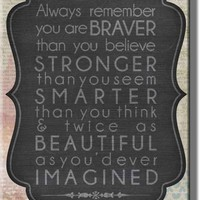 Motivational Note Picture on Stretched Canvas, Wall Art Décor, Ready to Hang!