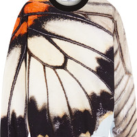 Givenchy - Sweatshirt in cotton-terry with butterfly print